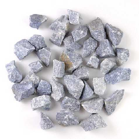 Pierres brutes quartz bleu - 2.5 à 3.5 cm - 100 grammes