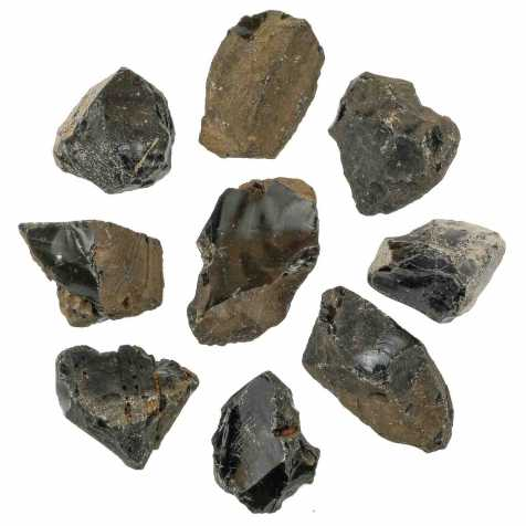 Pierres brutes obsidienne - 5 à 8 cm - Lot de 3