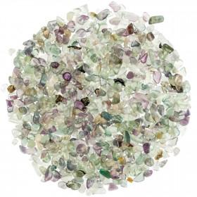 Mini pierres roulées fluorite multicolore - 5 à 10 mm - 100 grammes