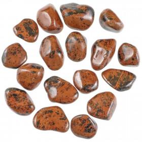 Pierres roulées obsidienne acajou - 2.5 à 4 cm - Lot de 2