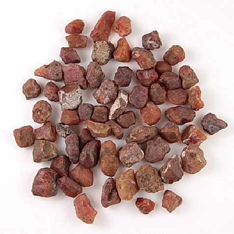 Pierres brutes cornaline - 1.5 à 2.5 cm - 100 grammes