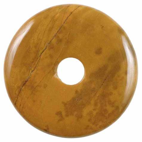 Donut Pi Chinois en jaspe café pour pendentif