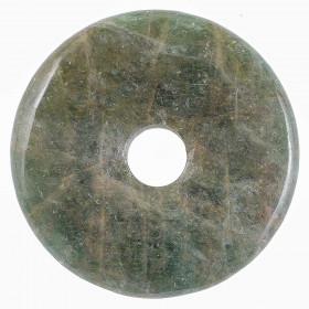 Donut Pi Chinois en apatite verte pour pendentif