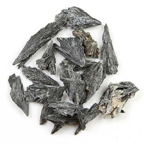 Pierres brutes cyanite grise (disthène) - 3 à 6 cm - 100 grammes