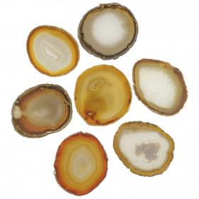 Tranche d'agate polie naturelle - 10 à 12 cm