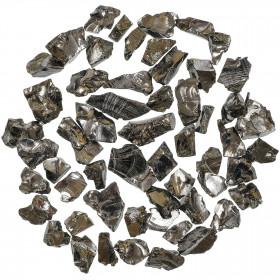 Pierres brutes shungite argentée - 1.5 à 2 cm - 15 grammes