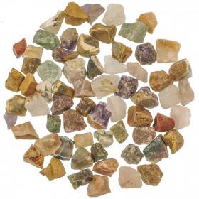 Lot de pierres brutes avec pochette offerte - Mélange Inde - 2 à 3 cm - 800 g