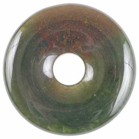 Donut Pi Chinois en jaspe héliotrope pour pendentif