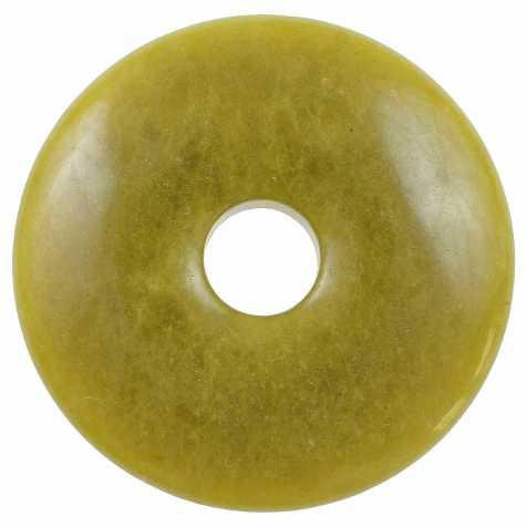 Donut Pi Chinois en jade vert de Chine pour pendentif