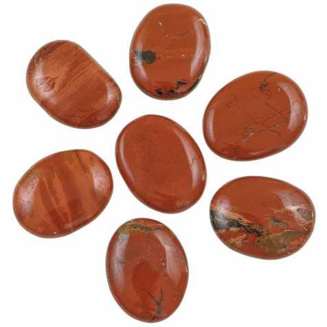 Galet plat jaspe rouge - A l'unité