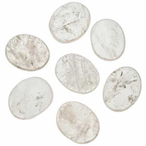 Galet plat cristal de roche - A l'unité