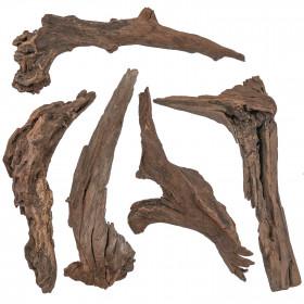 Bois flottés brun déco - 30 à 35 cm - Lot de 2