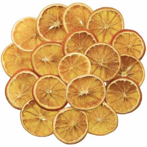 Tranches d'oranges séchées pour la décoration - 100 grammes
