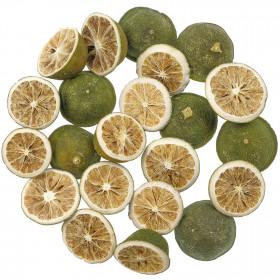 Demi citrons verts séchés déco - 100 grammes