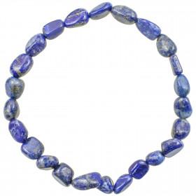 Bracelet en lapis lazuli - Perles pierres roulées mini