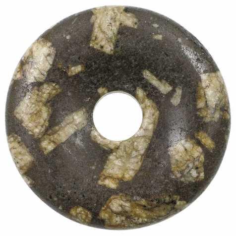 Donut Pi Chinois en porphyre grec (brun) pour pendentif