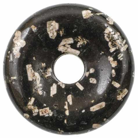 Donut Pi Chinois en porphyre d'Australie pour pendentif