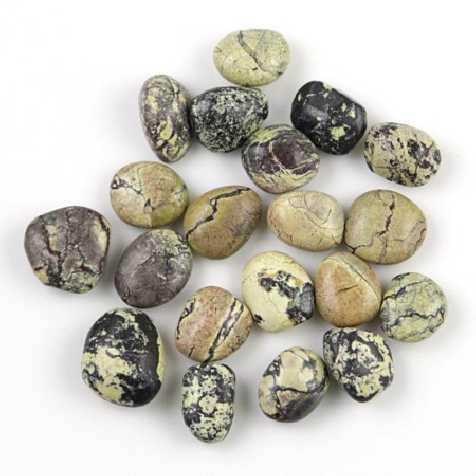Pierres roulées jaspe (ou turquoise) jaune - 2 à 3 cm - 20 grammes