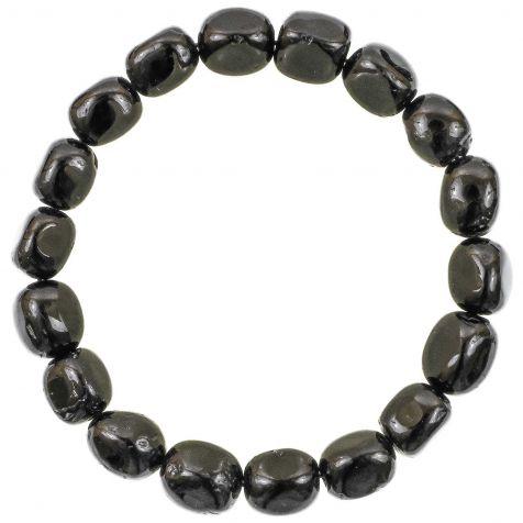 Bracelet en tourmaline noire - Perles pierres roulées