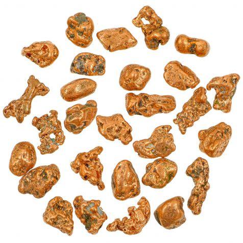 Pépites de cuivre natif - 1.5 à 2.5 cm - 30 grammes