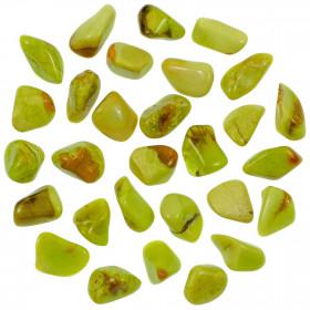 Pierre roulée opale kiwi - 1.5 à 2 cm - Lot de 3