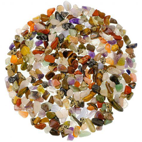 Lot de pierres roulées avec pochette offerte - Mélange Afrique - 1 à 1.5 cm - 800 g