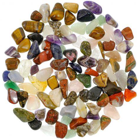 Lot de pierres roulées avec pochette offerte - Mélange Afrique - 2 à 3 cm - 800 g