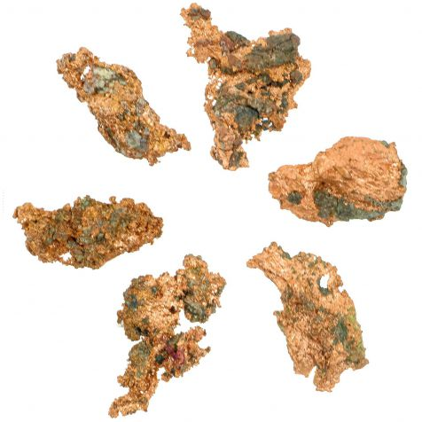 Cuivre natif brut - 2 à 5 cm - 20 grammes