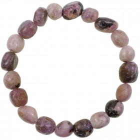 Bracelet en lépidolite - Perles pierres roulées
