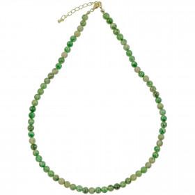Collier en serpentine - Perles rondes