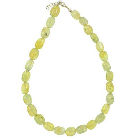 Collier en préhnite épidote - Perles pierres roulées