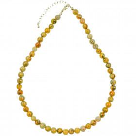 Collier en agate crazy lace - 45 cm - Perles rondes