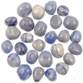 Pierres roulées aventurine bleue - 1.5 à 2.5 cm - Lot de 3