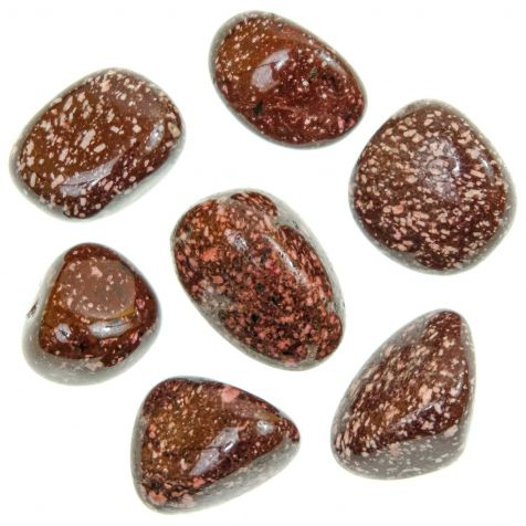 Pierres roulées porphyre impérial pourpre - 2 à 3 cm - Lot de 2