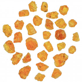 Pierres brutes grenat mandarin - 5 à 8 mm - Lot de 5