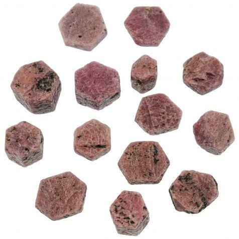 Pierres brutes rubis - 2 à 3 cm - Lot de 2