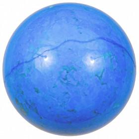 Sphère en howlite teintée bleu