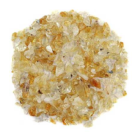 Sable brut de citrine 0/10 mm - 100 grammes