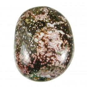 Galet de jaspe orbiculaire - 130 grammes