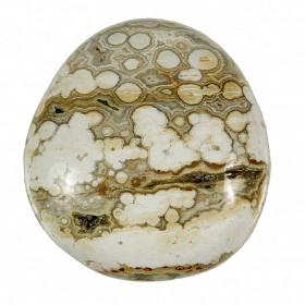 Galet de jaspe orbiculaire - 100 grammes