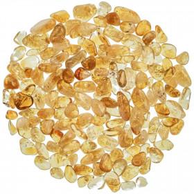Mini pierres roulées citrine - 1 à 1.5 cm - 100 grammes
