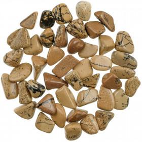 Pierres roulées jaspe ivoire - 2 à 3 cm - 40 grammes