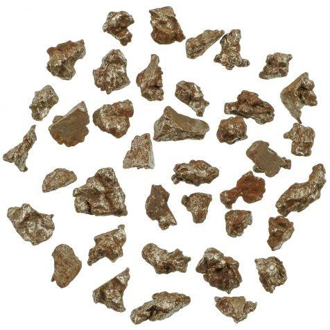 Fragments de météorite (hexaédrite) Campo Del Cielo - 7 à 15 mm - Lot de 2