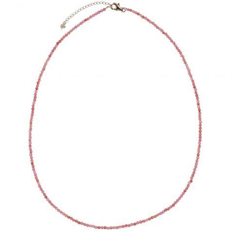 Collier en tourmaline rose - Perles facettées ultra mini - Argent 925