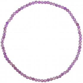 Bracelet en améthyste - Perles facetées ultra mini