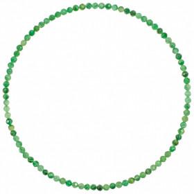 Bracelet en aventurine - Perles facetées ultra mini