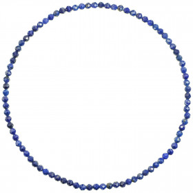 Bracelet en lapis lazuli - Perles facetées ultra mini