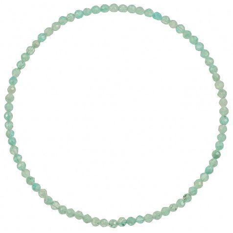Bracelet en amazonite - Perles facetées ultra mini