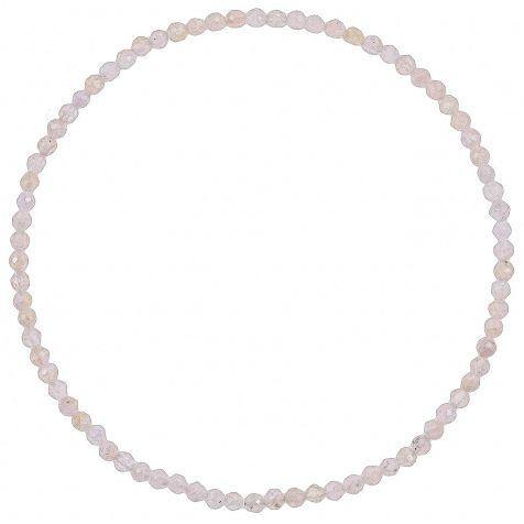 Bracelet en quartz rose - Perles facetées ultra mini
