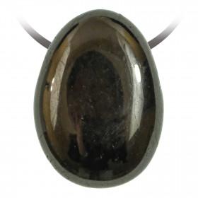 Pendentif goutte pierre percée en jaïs